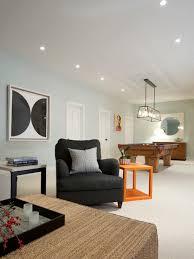 best paint for basement wallsSparkling Lights Shining White Wall For Family Room Design Part