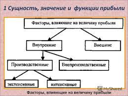 Презентация на тему Прибыль и рентабельность предприятия  6 1 Сущность значение и функции прибыли Факторы влияющие на величину прибыли
