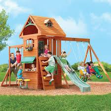Big Backyard Ashberry Wooden Swing Set U0026 Reviews  WayfairBig Backyard Ashberry Wood Swing Set