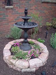 Front yard fountain to hide tree stump. Gardening HacksFairy ...