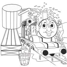 Small Picture Washing Thomas Train Colouring Pages To Print Cartoon Coloring