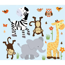 jungle nursery wall decals with zebra decals for boys bedrooms on baby safari nursery wall art with nursery jungle wall decals with zebra wall decals for boys rooms
