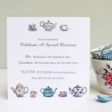 personalised tea party invitations