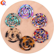 Spiral Beads Design Us 15 02 20 Off Cordial Design 30pcs 41 43mm Jewelry Accessories Acetic Acid Beads Diy Spiral Shape Earring Making Hand Made Earring Findings In