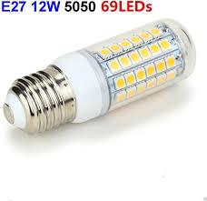 <b>LED Corn Light</b> Bulb <b>E27</b> Socket 69 LEDs 5050 12W Cover Corn ...