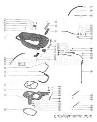 Bottom cowl assembly and shift linkage serial range mercury