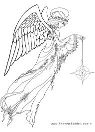 Small Picture Stunning Angel Coloring Pages For Adults 20 Free Printable Angel