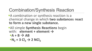 chemical equation for synthesis jennarocca