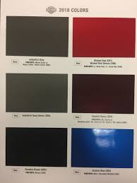 Harley Davidson 2019 Color Chart Harley Davidson New Paint Colors