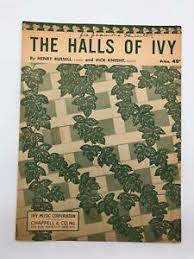 Sheet Music - The Halls Of Ivy - Henry Russell, Vick Knight - Vintage   eBay