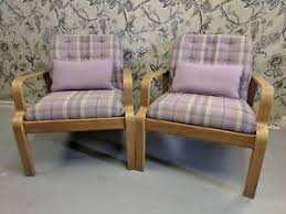 vintage chair. Image Is Loading Art-deco-buttoned-oak-chairs-abraham-moon-wool- Vintage Chair