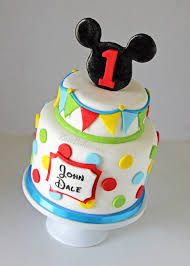Mickey Mouse Cakes 1st Birthday First Cake Blue Baby Topper For Girl