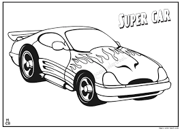 Super car coloring page