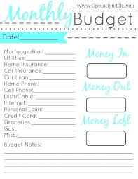 Free Budget Download Monthly Family Budget Worksheet Printable The Best
