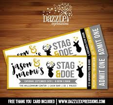 Party Ticket Invitations Inspiration Printable Stag And Doe Party Ticket Invitation Deer Wedding
