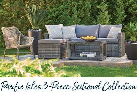 modern and elegantly designed our resin wicker sectional collection comes in two seating sections chaise and loveseat with a coffee table in a modern
