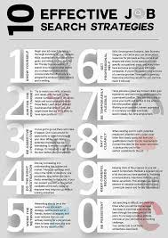 active life club 10 effective job search strategies 10 effective job search infographic