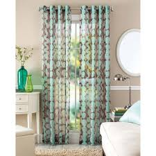 better homes and garden curtains. Better Home And Gardens Blue Vine Leaf Sheer Window Panel Homes Garden Curtains O