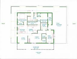 House Floor Plans Pole Shed Small Barn Loft Grama Sue S Plan Play Land  Under ...