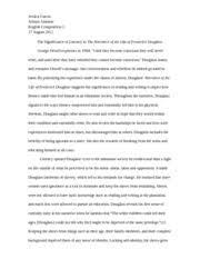 frederick douglass essay orellana greyson orellana ms ruby  6 pages frederick douglass eng2 essay1 final paper