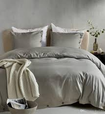 drop holiday gift solid color light grey gray bedding duvet cover set pillowcase twin queen king size with ons bedding set king size duvet