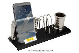 elegant desk organizer with cell phone holder waubkc497