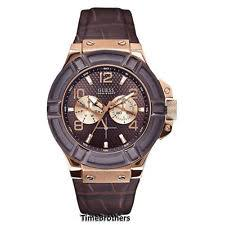 men s gold watches seiko citizen casio new guess watch for men brown rose gold tone croco leather strap