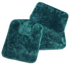 royale hunter green bath rug ensemble