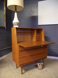 home office contemporary secretary desk in wood lacquered vintage ground mid century danish modern with desks amazing executive modern secretary office desk