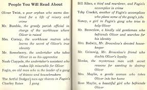 oliver twist a classic case of madness page  a character list
