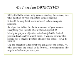 Does A Resume Need An Objective Do Resumes Need Objectives