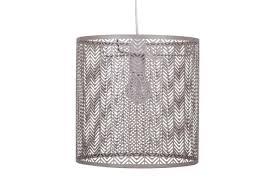 modern matt taupe metal cut out arrows non electric ceiling light shade pendant