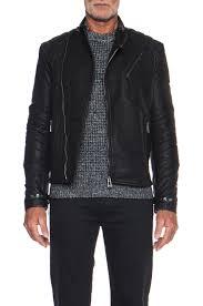 image 1 of belstaff signature kendal embossed grain leather jacket in black