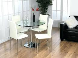 chrome dining room table and 4 chairs set small glass dining room tables dining tables stunning small round glass dining table round glass regarding