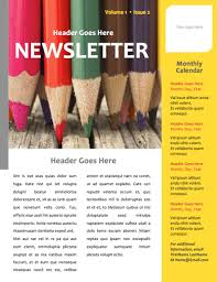 Microsoft Office Word Newsletter Templates Art Newsletter Template Microsoft Word File Newsletter