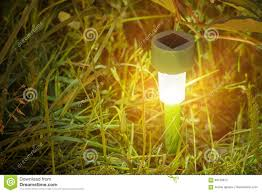 Solar Batteries For Outdoor Lights Garden Lights With Solar Battery Stock Image Image Of