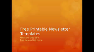 Printable Newsletter Templates Download Them Or Print