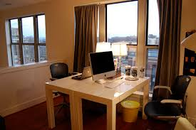 double office desk. loft office modernhomeoffice double desk e