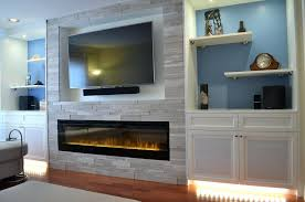 electric fireplace with cubby for tv