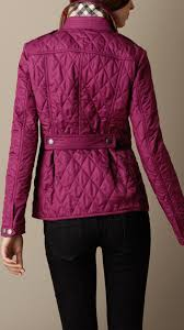 Lyst - Burberry Heritage Quilted Jacket in Purple & Gallery Adamdwight.com