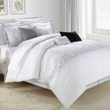 gray and white king comforter set. Plain And Soothing White Comforter Set With Black Grey Combo Window Curtains  Bedding For To Gray And White King Comforter Set