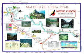 inca trail 4 days 3 nights map to enlarge