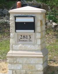 stone mailbox designs. Large Stone Mailbox With Plaque Designs N