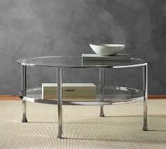 tanner round coffee table polished