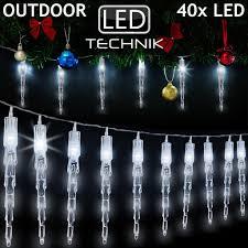 40 Led Lichterkette Mit 10 Eiszapfen 620m Kaltweiß Für Innen Außen Weihnachtsbeleuchtung Weihnachtsdekoration Weihnachtsbaum Fenster