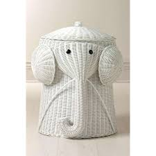 Rattan Elephant Hamper Laundry Hampers Bath Thisnext Elephant Bathroom  Accessories