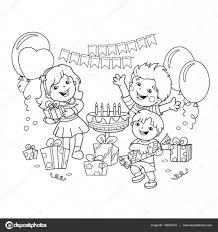 Disegni Da Colorare Pagina Muta Dei Bambini Con I Regali Allholiday