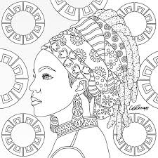 These princess coloring pages with long flowing gowns, unicorns and a handsome prince would make their the beautiful princess you see here is elsa, the snow queen. Tribal Queen Coloring Page Desenho Africano Arte Da Africa Ilustracoes