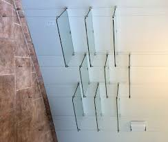 Cable Suspended Glass Shelves Cable Suspended Glass Shelves 15 photos wire suspended  glass shelves shelf ideas
