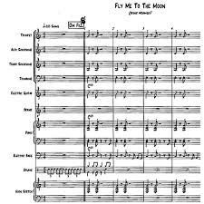 Fly Me To The Moon For Little Big Band With Male Vocal